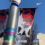 """<span class=""""title"""">ジム初めからの、お散歩初め👍  3キロランニングと3キロお散歩〜👍  近所の通りの旗が、なんとも洒落たものが飾られてあったので今日はこちら😊  トレーニングの締めにはこちらの曲でした😊  #ボディメイク #お尻トレーニング #美尻 #美尻トレーニング #glay ..</span>"""