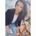 """<span class=""""title"""">. . 自転車で桜の木のトンネルくぐってきた♡♡ . こちらの桜もまもなく満開です🌸 . .  #筋トレ #筋トレ女子 #トレーニング #training #トレーニング女子 #ワークアウト #workout #ワークアウト女子 #フィットネス #fitne ..</span>"""