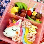 "<span class=""title"">Unicorn Bento this morning 🦄❤💜💚💙🧡 Happy Friday folks ⭐  #unicorn #rainbow #colorful #lunchbox #kidslunch #cute #healthyfood # .. #お弁当コンテスト</span>"