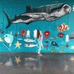 "<span class=""title"">. Wall Art 🐳🐡🐟🐠 . トンネルの中にある地元の子供たちが書いた 海の生き物達の絵🎨 . さかな君もいるよ🐠🤭 かわいい〜🥰 . 📍インギャーマリンガーデンの近く #宮古島 #miyakoisland .</span>"