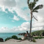 "<span class=""title"">. Under a palm tree is my favorite place to be🌴 . このヤシの木ってば、""私に座ってね""って言ってるみたいな形🥺🌴💙 . . #miyakoisland #宮古島 .</span>"