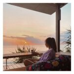 """<span class=""""title"""">. めっちゃ綺麗なサンセットで良き休日🌞🧡🤎 . 100点満点の空間やねん🥺💯👏 大好きなハーブティー。周りを気にしないプライベート空間。座敷とクッションソファー。波の音、美しい植物、瞬間で変化していく夕陽。そのままビーチにも行ける。 カフェだけでも流石の星野リゾートさん ..</span>"""