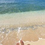 """<span class=""""title"""">Sandy toes and ocean waves 💚🤍💙 . . . #sandytoes #oceanwaves #waves #beach #oceanwater #seashore #seawall #clearwater #glowytan #sunshin ..</span>"""