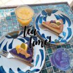 """<span class=""""title"""">好きなカフェ🍰💜 紅芋のケーキとチーズケーキだった 気がする😆✌🏾忘れちゃったけどw 美味しかった🌈🌈  このケーキの上にのってるクッキー、、、 """"猫の恩返し""""の魚クッキーみたい🐈❤️ ジブリ好きな人にならわかるはずw  #kupukupucafe #石垣島カフェ ..</span>"""