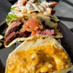 """<span class=""""title"""">South African tacos🧀 & Wagyu salsa tacos🥩 & Sour cream avocado shrimp🦐  Outdoor seating is also available. We look forward to seeing you ..</span>"""