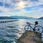 """<span class=""""title"""">#野尻湖キャンプ の続き  #ロードバイク で #野尻湖一周  早朝の気持ちいい空気の中のライドは最高でした。  #絶対に押すなよ #野尻湖 #ロードバイクのある景色 #ロードバイクのある生活 #ロードバイク日和 #trek #トレック #madone ..</span>"""