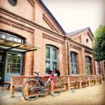 """<span class=""""title"""">【 #赤煉瓦cafe 】 ( #サンデー午前中ライド 北区激坂巡り⑥ )  #北区 #ぽたりんぐ の〆はココで #カフェブレイク 。  ※3枚目の画像は撮影だけです。 子供用のサイクリングロードです。😅  ・  #旧陸上自衛隊 .. #ロードバイクJP</span>"""