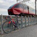 """<span class=""""title"""">今日は5時からサイクリング🚴♀️💨 今回はひのとりとのコラボ写真が上手に撮れた😄  #サイクリング #ダイエットおじさん #ロードバイク #ピナレロ #ピナレロラザ #cycling #diet #roadbike #pinarel .. #ロードバイクJP</span>"""