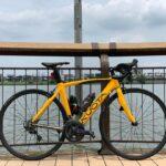"""<span class=""""title"""">今日はレイクタウンまで プチサイクリング。すぐ息上がるからやばいなぁ。 プチカスタムは黒だった部分にフォージドカーボンをラッピング、今日で黄色ともお別れなので次の色でロゴなどの黒い部分はフォージドカーボンになります。 ・ ・ #roadbike # .. #ロードバイクJP</span>"""