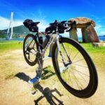 """<span class=""""title"""">2021 7.21 しまなみ海道day1🚴  サイクリストの聖地、道の駅「多々羅しまなみ公園」、サイクルラックと石碑😆  多々羅大橋を渡り、鳴き龍と、県境のお決まりのポイント(o>ω<o)  アイスクリームは道の駅「マリンオアシスはかた」で、冷凍ミカン .. #ロードバイクJP</span>"""