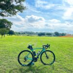 """<span class=""""title"""">やっと走れました。  The weather was fine and I was finally able to ride a road bike. It is a park at the starting point of the Tokyo 20 .. #ロードバイクJP</span>"""
