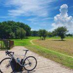 """<span class=""""title"""">•〜 夏空 •〜•〜•〜•〜•〜•〜•〜•〜•〜•〜 ・ もくもくの 🍄☁️に黄昏る☺️ ・ ん〜😌 ・ •〜•〜•〜•〜•〜•〜•〜•〜•〜•〜 #熊本新港 #fujiforeal #Fujibike #自転車のある風景 #bicycleco .. #ロードバイクJP</span>"""