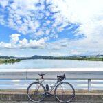 """<span class=""""title"""">caadライド  caad12のステムハンドル等のセッティング変更後、初ライド👍  まぁまぁ違和感無く走れるし、下手に触らずこのままで良いかな😗  写真は加古川の大堰にて  しかし風は涼しいけど陽射しは暑い。。  熱中症に気を付けながら熱中しよう😏  .. #ロードバイクJP</span>"""
